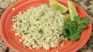 "Cilantro Lime Cauliflower ""Rice"" - Low Carb Side Dish by Rockin Robin Cooks"