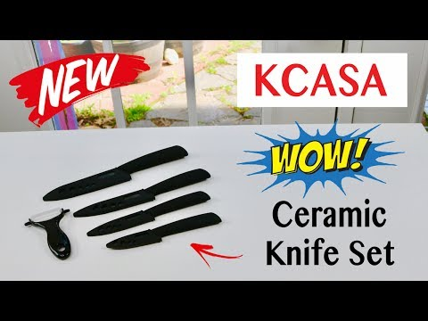 😍 KCASA 5 Piece  Ceramic Knife Set – Review        ✅