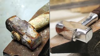 Turning old rusty hammer into Mjolnir TOOL RESTORATION