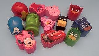 Surprise Egg Opening Memory Game for Kids!  Avengers Batman Disney PJ Masks Peppa Pig!