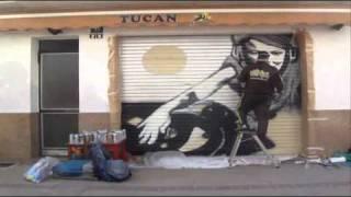 Graffiti persiana Sitges
