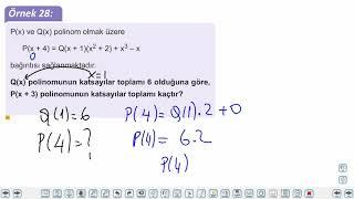 Eğitim Vadisi TYT Matematik 44.Föy Polinomlar 2 Konu Anlatım Videoları