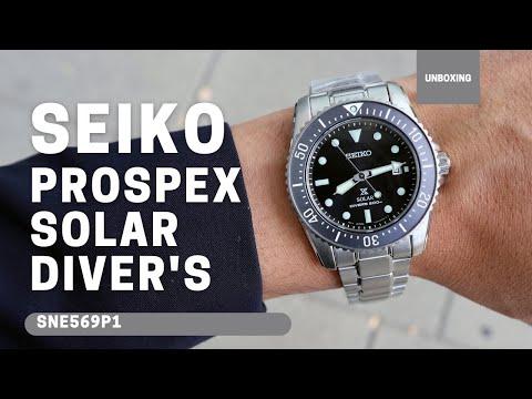 Seiko Prospex 38.5mm Solar 200m 660ft diver's watch SBDN069 SNE569P1