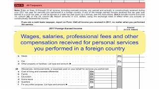 Form 2555, Foreign Earned Income Exclusion
