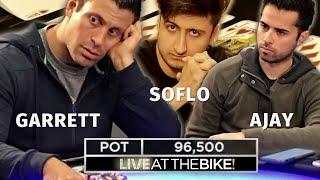 AA vs KK vs JJ in High Stakes Poker ♠ Live at the Bike!