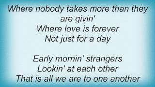 Barry Manilow - Early Morning Strangers Lyrics