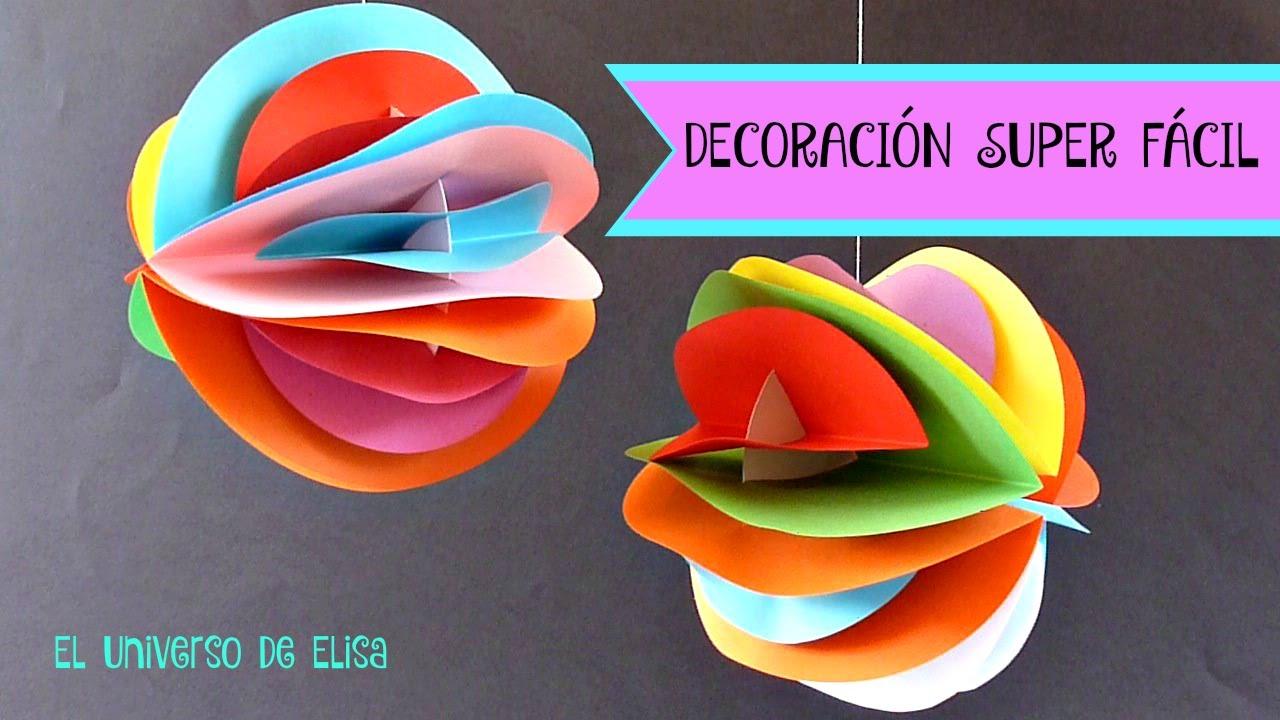 Decoración Super Fácil para tu Cuarto, Decora tu Habitación o tu Fiesta, Bolas de Colores