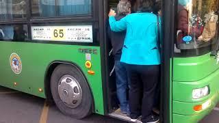 Общественный транспорт Алматы по утрам