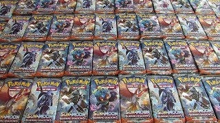 50 Burning Shadows Booster Pack Opening