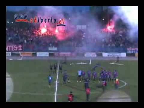 """Salida Iberia vs Trasandino"" Barra: Banda Azulgrana • Club: Deportes Iberia"