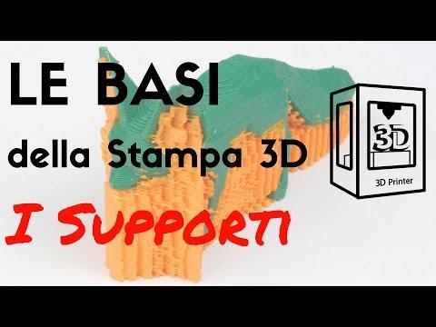 Le basi della stampa 3D - Supporti di Stampa