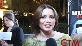 Circle Ten Media interviews Adriana Fonseca  at Battle: LA Miami Premiere (in Spanish)