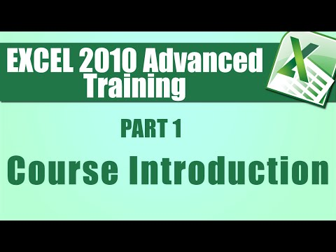 Microsoft Excel Tutorial Advanced - Part 1 - Introduction - How to ...
