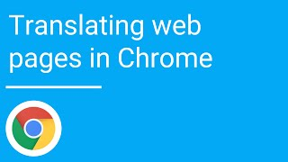 Translating web pages in Chrome