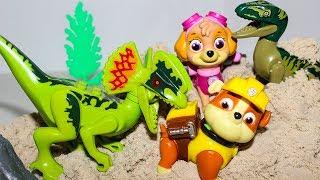 Щенячий патруль новые серии ДИНОЗАВРЫ АТАКУЮТ Развивающие мультики про Динозавры Игрушки для детей
