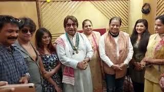 Hanuman Tandav with music director Dilip Sen,Singer Anup Jalota ji