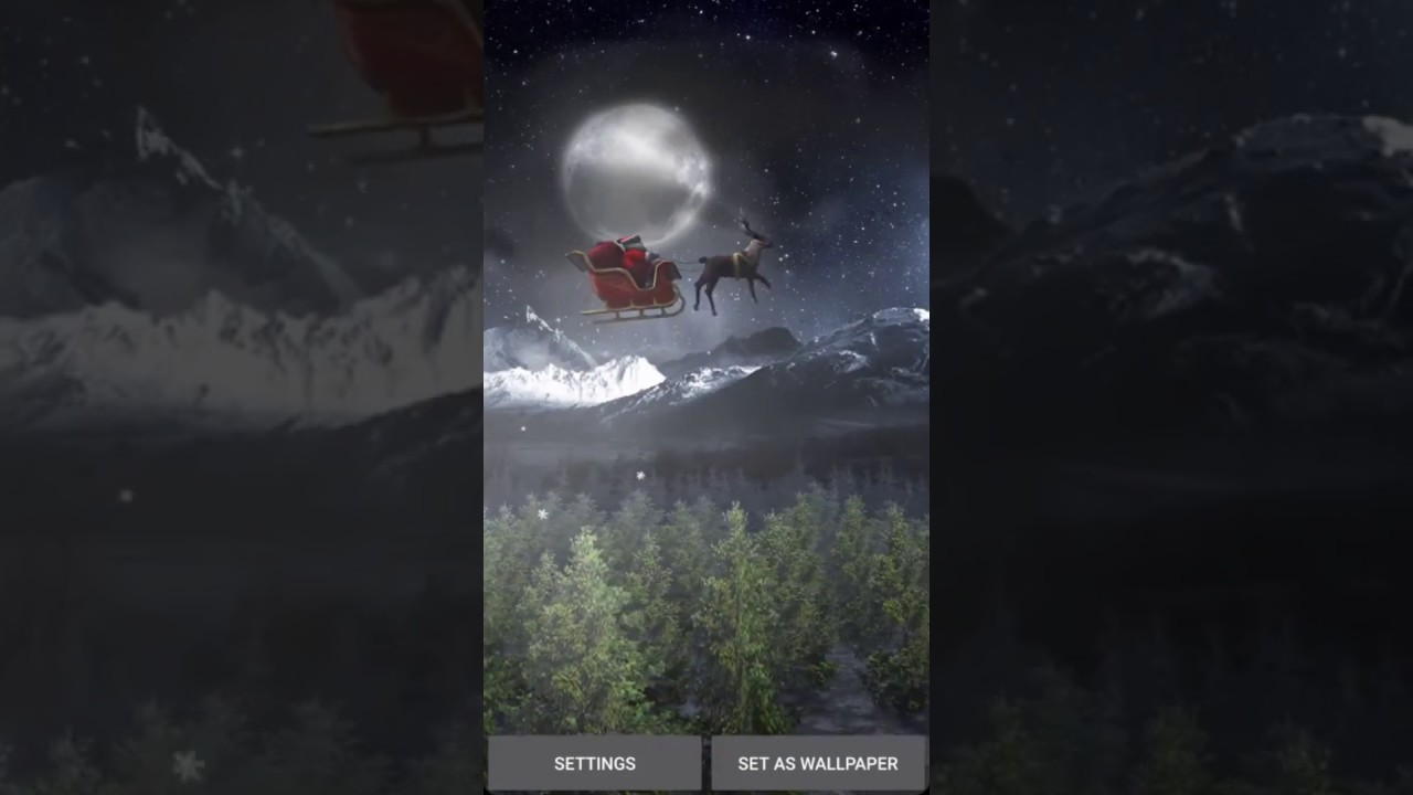 Santa 3D Live Wallpaper Preview Video