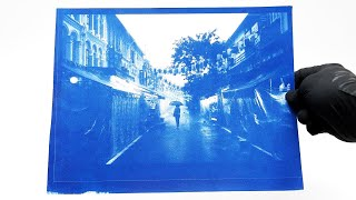 Experimenting with Cyanotype