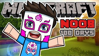A NOOB survived Minecraft for 100 days and this is what happened!