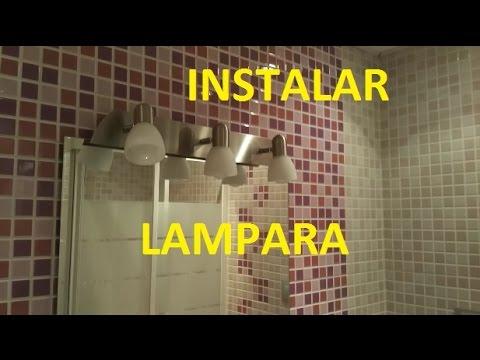 Como instalar una lampara