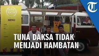 Inspiratif! Tiga Pemuda Disabilitas Ini Bikin Usaha Food Truck Kedai Minuman di Tangsel