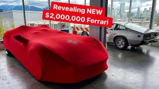 REVEALING NEW $2,000,000 FERRARI MONZA SP2 !   * Has No Windshield *