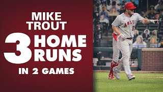 Angels' Mike Trout ON FIRE since return after birth of son (3 homers in 2 games!)