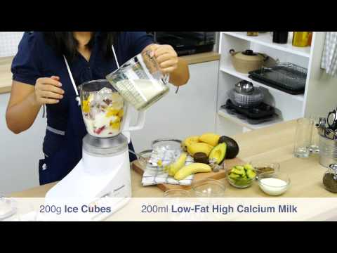 Video Banana Avocado Juice and Fruity Smoothie in Sour Plum