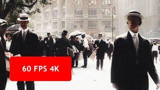 [4k, 60 fps] A Trip Through New York City in 1911