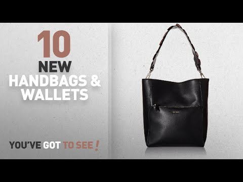 Nine West Handbags & Wallets [2018 New Arrivals]: Nine West Devera Bucket, Black/Ruby Red/Dusty