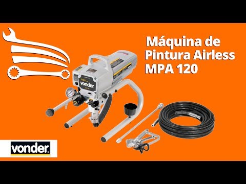 Maquina de Pintura Airless MPA 120 1,2Hp  - Video