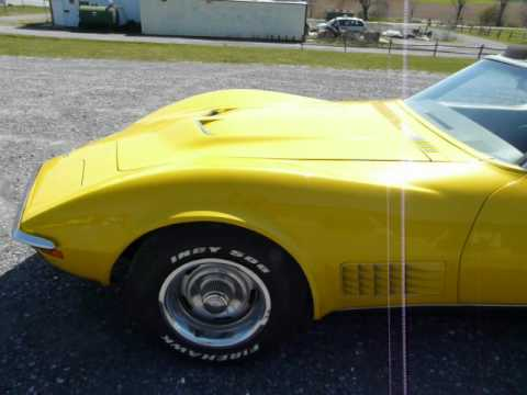 1971 Sunflower Yellow Corvette Big Block Video