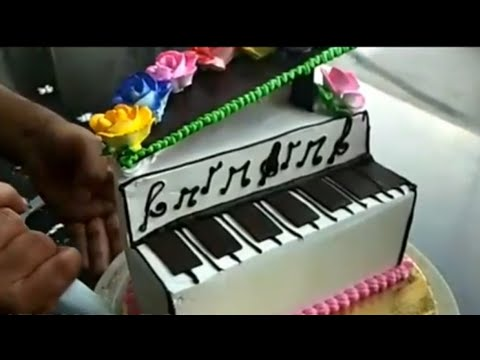 HOW TO MAKE A PIANO CAKE ! TOY CAKE ! TODAY'S TRENDY CAKES ! FONDANT CAKE ! DIY CAKE RECIPE !