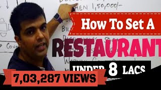 How To Set Up A Restaurant In 8 Lacs Or Less