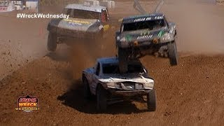 Jeremy McGrath Lands On Top Carl Renezeder While Racing Their Off Road Trucks  WW 3