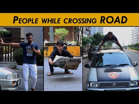 People while crossing the Road | Funcho Entertainment