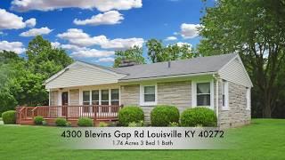 4300 Blevins Gap Rd Louisville KY 40272 Home For Sale