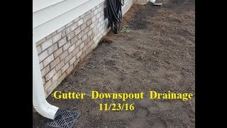 How to install Gutter Downspout Drainage