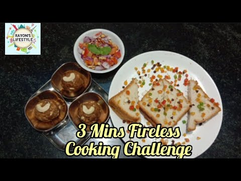 3 minutes Fireless cooking Challenge/3 recipes in 3 mins in Tamil by Rayon's Lifestyle…