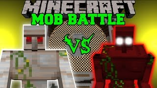 MUTANT IRON GOLEM VS DEMON GOLEM - Minecraft Mob Battles - Mods