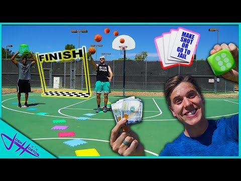 REAL LIFE BASKETBALL TRICK SHOT GIANT BOARD GAME!