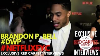 Brandon P Bell #DWP interviewed at Netflix's FYSee Space kick-off party #NetflixFYSee