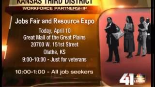Yoder Talks Jobs Outside Olathe Job Fair