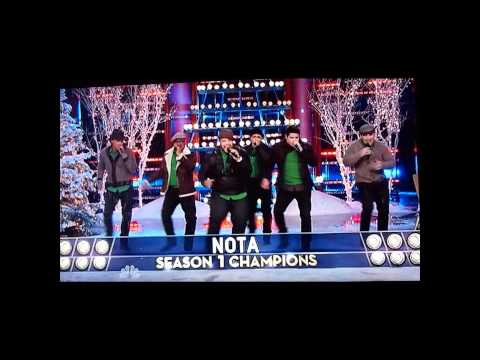 PENTATONIX SEASON 3 CHAMPIONS, SING OFF CHRISTMAS,OPENING NUMBER, 'PLEASE COME HOME FOR CHRISTMAS.'