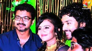 Vijay and More Celebrities at VJ Anjana and Kayal Chandran Reception | Marriage