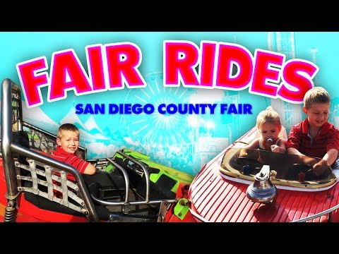 Family Fun At The SAN DIEGO COUNTY FAIR!!! Rides, Rides And More RIDES!