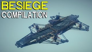 ►Besiege Compilation - Interesting Flying Machines