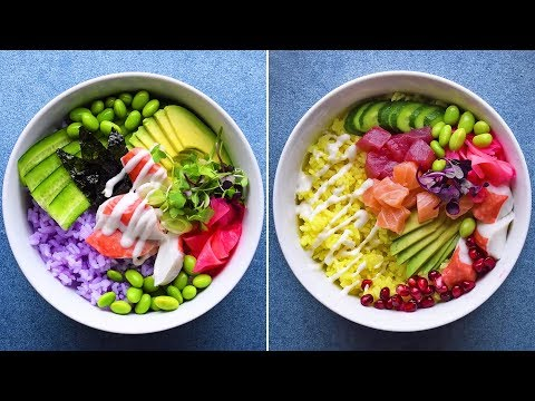 Taste the rainbow with these 3 sushi-inspired poke bowls 🌈🐟