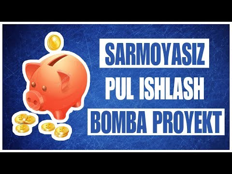 SARMOYASIZ PUL ISHLASH UCHUN AJOYIB PROYEKT/ REFERAL UCHUN 15 RUBL