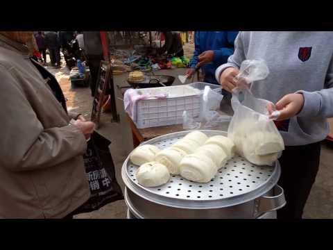 , title : '中国雲南省澄江の市場 饅頭おいしい!!!